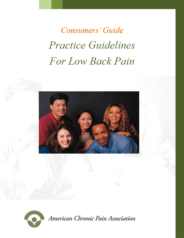 guidelines for low back pain